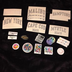 17  Brandy Melville Stickers (duplicates)